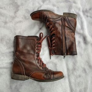 Brown Steve Madden Troopa boots sz 6